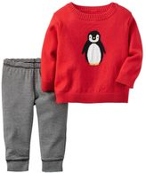 Carter's Baby Boy Knit-In Animal Sweater & Leggings Set