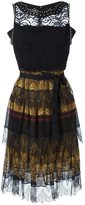 Etro lace detail dress - women - Silk/Cotton/Leather/Viscose - 42