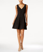 Betsey Johnson Metallic Fit & Flare Party Dress