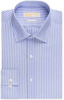 MICHAEL Michael Kors Men's Classic-Fit Non-Iron New Blue Stripe Dress Shirt