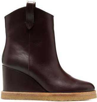 BA&SH Cristina wedge ankle boots