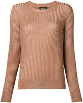 A.P.C. metallic rib jumper - women - Viscose/Metallized Polyester - S