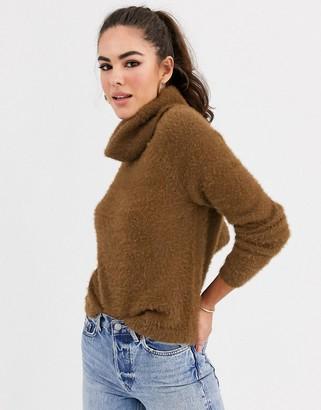 Vila fluffy roll neck jumper