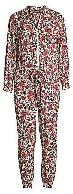 Robert Rodriguez Women's Taylor Cropped Floral Shirt Jumpsuit