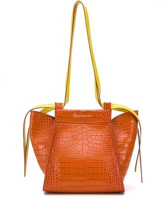 Elena Ghisellini Crocodile-Embossed Shoulder Bag