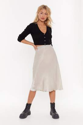 Nasty Gal Womens Sleek Havoc Bias Cut Satin Skirt - Tan - 10, Tan