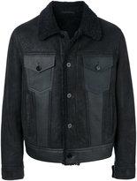 Neil Barrett shearling trim jacket