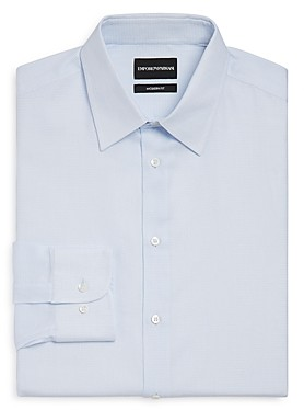 Giorgio Armani Emporio Micro-Checked Regular Fit Dress Shirt