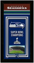 "Seattle Seahawks Super Bowl XLVIII Champions 14.5"" x 27.5"" Framed Banner"