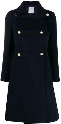 Sandro Paris double-breasted military coat