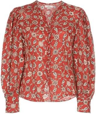 Etoile Isabel Marant paisley and floral print linen blouse