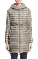 Moncler Women's Barbel Water Resistant Long Hooded Down Jacket
