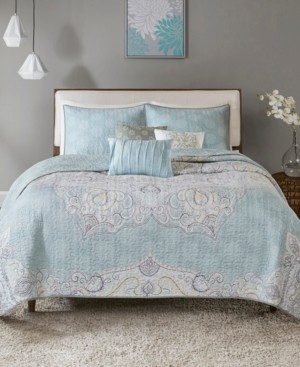 Madison Home USA Lucinda 6-Pc. King/California King Reversible Cotton Sateen Coverlet Set