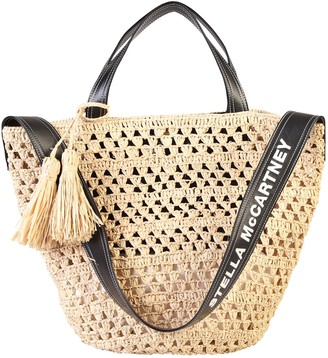 Stella McCartney Woven Tassel Detail Tote Bag