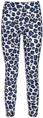 Adam Selman Sport Leo Print French Cut Leggings