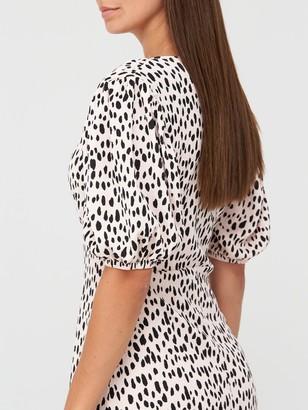 Very Curve Seam Floaty Midi Dress - Spot Print