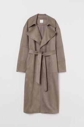 H&M Imitation suede coat