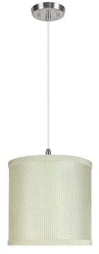 Charlton Homeâ® Bigelow 1 - Light Single Drum Pendant Charlton HomeA Shade Color: Gray