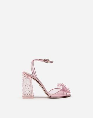 Dolce & Gabbana Cinderella Sandals With Sint Glass Heel