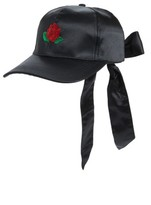 Amici Accessories Women's Rose Embroidered Ball Cap - Black