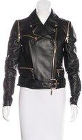 Black Leather Jacket Gold Hardware - ShopStyle