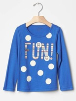 Gap Glitter graphic long sleeve tee