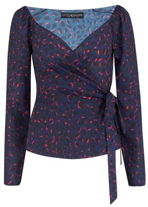 Dorothy Perkins Womens **Girls On Film Multi Colour Wrap Top, Multi Colour