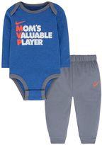 Nike Baby Boy Graphic Bodysuit & Piped Pants Set