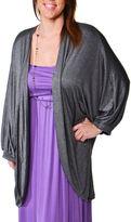 24/7 Comfort Apparel Oversized Dolman Sleeve Cardigan Plus