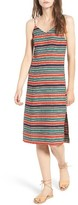 Moon River Women's Stripe Slip Dress