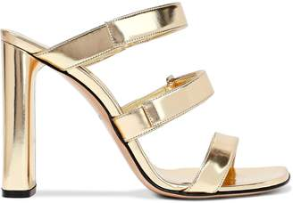 Casadei Mirrored-leather Mules