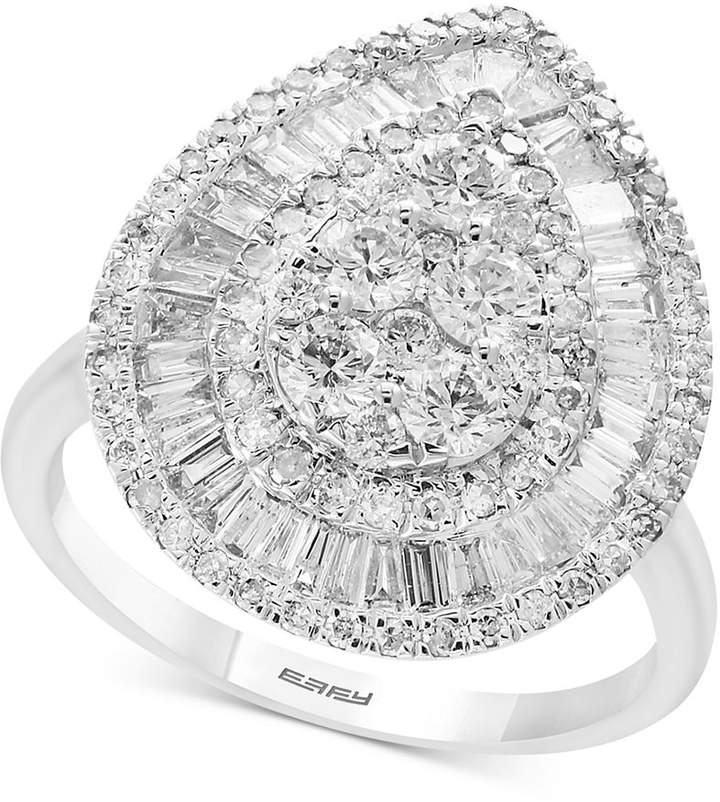 Effy Classique by Diamond Teardrop Ring (1-5/8 ct. t.w.) in 14k White Gold