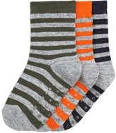 Joe Fresh Toddler Boys' 3 Pack Stripe Socks, Multi (Size 3-5)