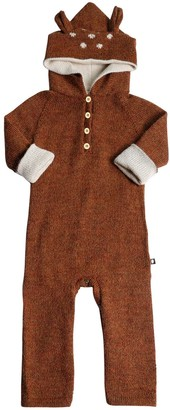 Oeuf Bambi Hooded Baby Alpaca Knit Romper