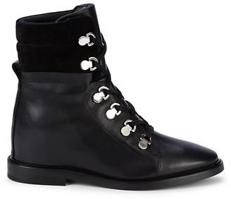 Aquatalia Clarisa Weatherproof Leather Suede Booties