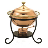 Old Dutch Round Dcor Copper over Stainless SteelChafing Dish 3 Qt