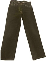 Ann Demeulemeester Anthracite Cotton Trousers for Women