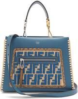 Fendi Runaway small snakeskin-trimmed leather bag