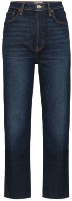 RE/DONE High-Rise Dark Wash Jeans