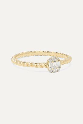 STONE AND STRAND Shield Of Strength 14-karat Gold Diamond Ring - 5