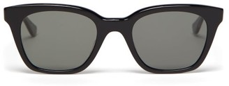 Garrett Leight X Clare V Nouvelle Square Acetate Sunglasses - Womens - Black