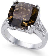 Macy's Smoky Quartz (5 ct. t.w.) and White Topaz Accent Ring in Sterling Silver