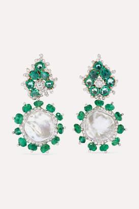 Bina Goenka 18-karat Gold Multi-stone Earrings - White gold