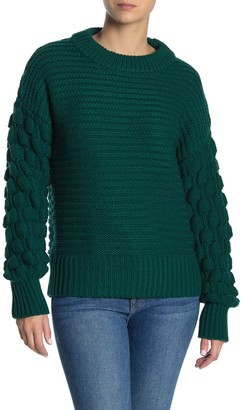 Elodie K Bubble Sleeve Pullover Sweater