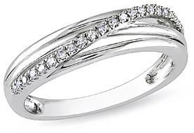 Silver Cross Sofia B Women's Rings Silver - Diamond & Sterling Triple-Band Ring