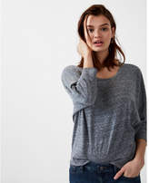 Express one eleven marled slouchy dolman tee