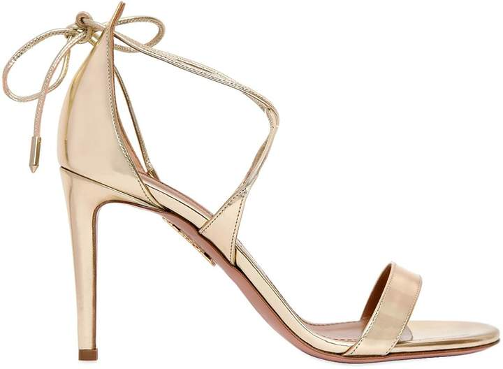 Aquazzura 85mm Linda Mirror Leather Sandals