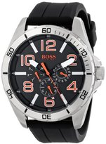 "HUGO BOSS BOSS Orange Men's 1512945 ""Big Time"" Stainless Steel Watch with Black Silicone Band"