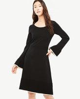 Ann Taylor Ruffle Flare Sweater Dress