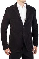 Prada Men's Cotton Corduroy Three-button Sport Coat Jacket Brown.